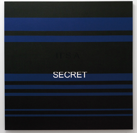 It's a secret, 2013, Acrylique sur toile, 122 x 122 cm. (Claridge Collection)