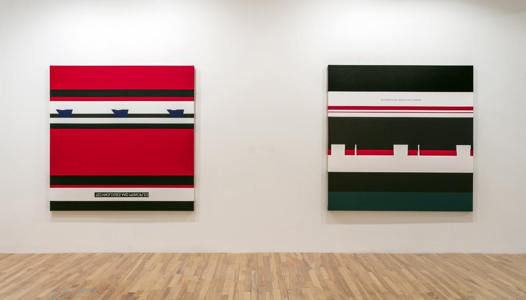 User Agreement (vue de l'exposition), 2017, Galerie Graff, Montréal. Crédits photo: Richard-Max Tremblay
